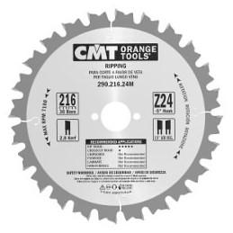Diskas pjovimo 160x2,6x20 Z12 HM, CMT