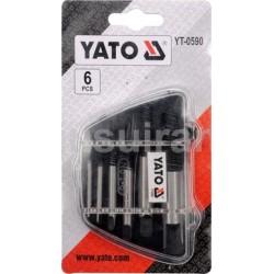 YATO YT-0590 rinkinys nulaužtiems varžtams išsukti 6 vnt.