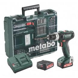Mobilus meistro rinkinys PowerMaxx SB 12V 63 priedai 2,0 Ah, Metabo