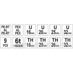 Replės PEX-AL-PEX arba PERT-AL-PERT vamzdžių užspaudimui Yato