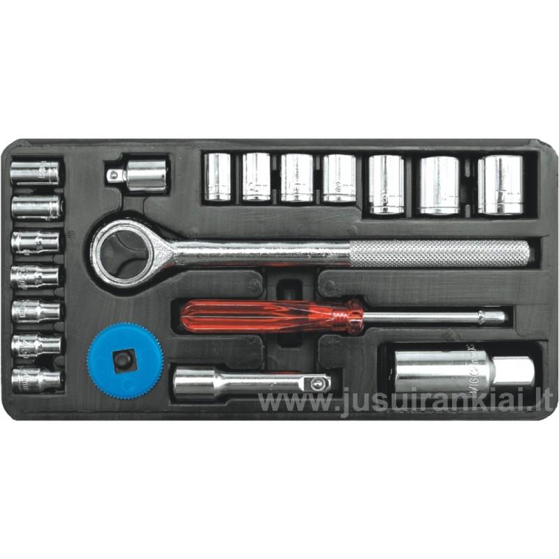 Įrankių rinkinys 21 vnt. Vorel Y-58210