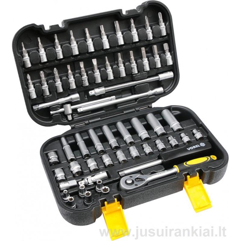 Įrankių rinkinys 56 vnt. Vorel Y-58642