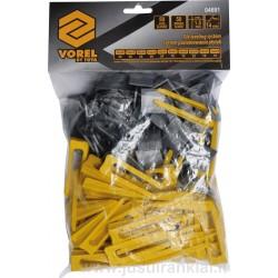 50+50vnt. pleištų ir intarpų plytelėms, plytelių išlyginimo sistema VOREL Y-04691