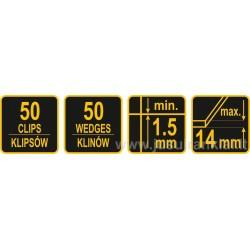 100+300vnt. pleištų ir intarpų plytelėms, plytelių išlyginimo sistema VOREL Y-04692