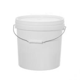 Kibiras polietileninis maistinis su dangteliu 18ltr. apvalus baltas