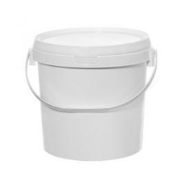Kibiras polietileninis maistinis su dangteliu 20ltr. apvalus baltas