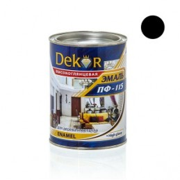 Emalė 0,8kg. sp. juoda DEKOR PF-115 Chimik
