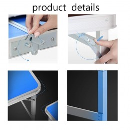 Sulankstomas stalas-prekystalis 120x60cm. aliuminis LC02