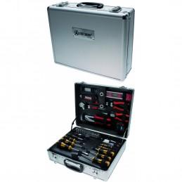 Įrankių rinkinys 129vnt. aliumininiame lagamine KREFTMANN 2204