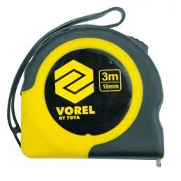 Ruletė 3m.x16mm. geltona VOREL Y-10104