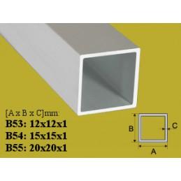 Profilis 15x15mm. L-100cm. aliuminis, vamzdis kvadratinis EFFECTOR B54