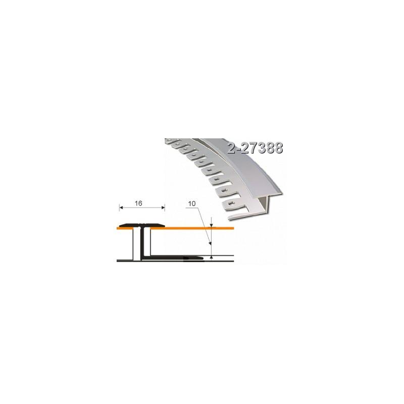 Profilis 16x10mm. 2,5m. lankstomas, aliuminis-ąžuolas ZICZAC 2-27388