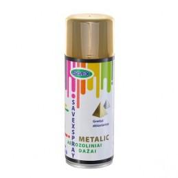 Dažai aerozoliniai 400ml. metalo efektas, sp.aukso SAVEXSPRAY