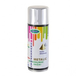 Dažai aerozoliniai 400ml. metalo efektas, sp.chromo SAVEXSPRAY