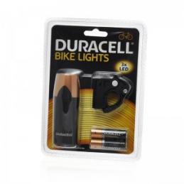Priekinė dviračio lempa 3led, 2xAA, 98x3,5x3,5cm. DURACEL