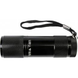 Žibintuvėlis 9LED aliuminis, juodas YATO YT-08570