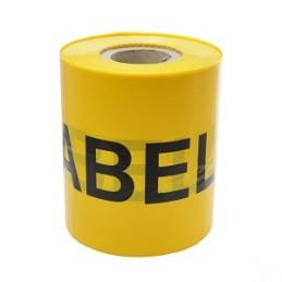 Juosta įspėjamoji geltona KABELIS 230mmx300m.