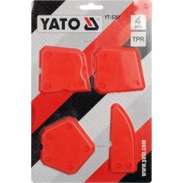 Silikoninių špakliuočių ir mentelių 4vnt. rinkinys YATO YT-5261