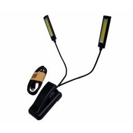 Šviesos diodų šviestuvas su prisegtuku 6W. COB LED, USB