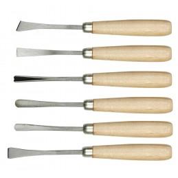 Kaltai drožinėjimui 6vnt. medinėmis rankenomis VOREL Y-25700