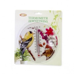 Termometras lauko 16cm. apvalus su paukščiu MAK6316