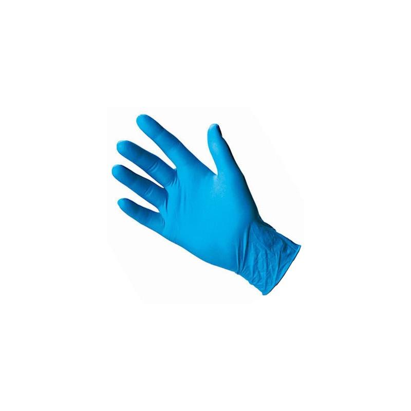 Pirštinės vienkartinės 100vnt. (50porų), nitrilinės, be latekso, mėlynos Nr.M,L,XL