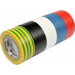 Izoliacinių juostų rinkinys 10vnt. įvairių spalvų YATO YT-8173