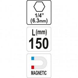 Magnetinis antgalių laikiklis 150mm. YATO YT-04681