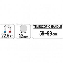 Magnetinis kotas teleskopinis 59-99cm. YATO YT-0860