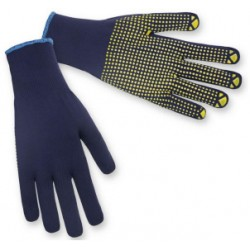 Pirštinės megztos, tekstilė-sintetika su PVC