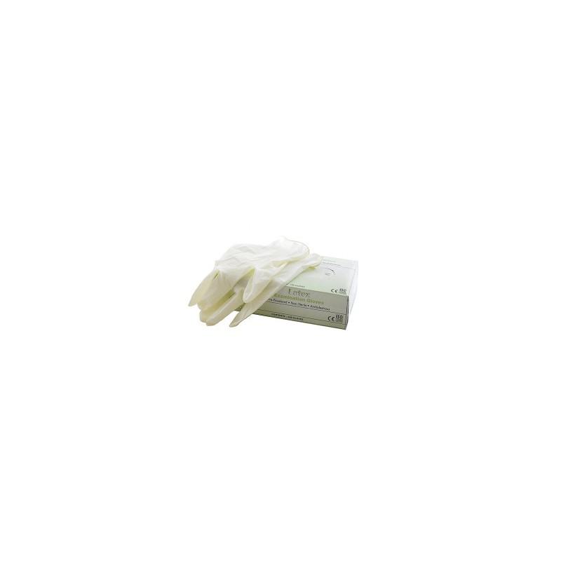 Pirštinės 100vnt.(50por.) vienkartinės lateksinės su pudra XL dydis