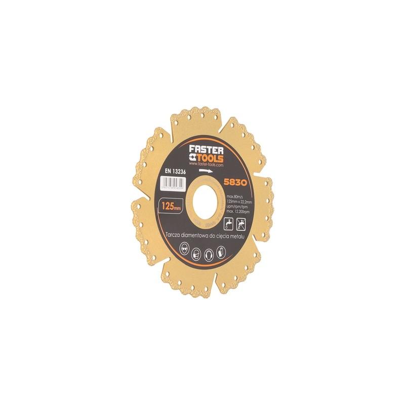 Diskas deimantinis (sausam-šlapiam pjovimui) metalui,keramikai,plastikui FASTER TOOLS