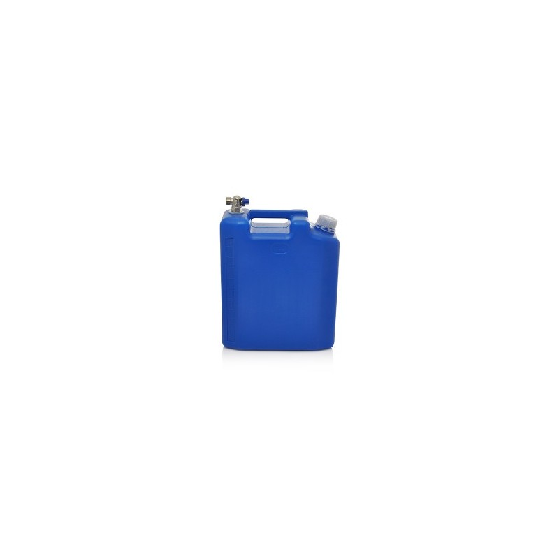Kanistras vandeniui 10ltr. plastikinis mėlynas su kranu