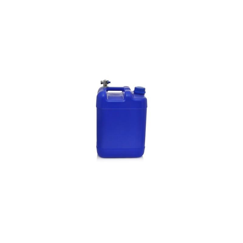 Kanistras vandeniui 20ltr. plastikinis mėlynas su kranu