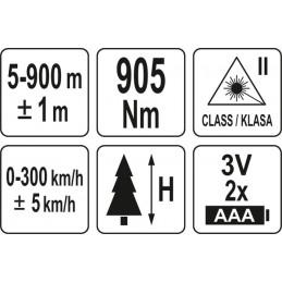 Tolimatis-lazerinis atstumo matuoklis YATO YT-73129