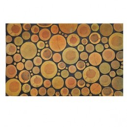Kilimėlis durų guminis 46x76cm. TREE CROSS SECTION