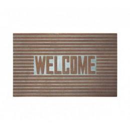 Kilimėlis durų guminis 46x76cm. rudas WELCOME