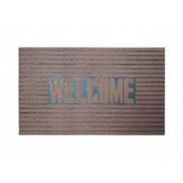 Kilimėlis durų guminis 46x76cm. šv. rudas WELCOME