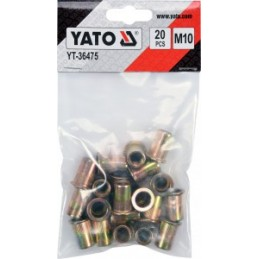 Kniedės aliumininės srieginės M6 20vnt. YATO YT-36454