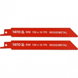 Pjūklas 150mm. 10TPI siaurapjūkliui/tiesiniam pjūklui 2vnt. YATO YT-33930