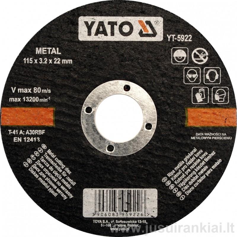 Diskas metalo pjovimui 125 mm. YATO 5923