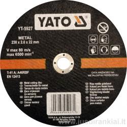 Diskas metalo pjovimui 230 mm. YATO 5927