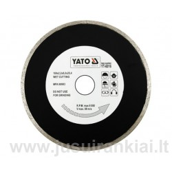 Diskas 220mm. deimantinis šlapiam pjovimui YATO YT-6017