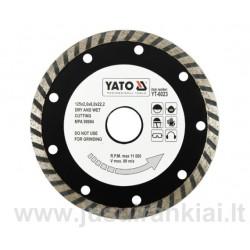 Diskas 125mm. deimantinis šlapiam-sausam pjovimui YATO 6023