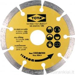 Diskas 110mm. deimantinis sausam pjovimui VOREL 08710