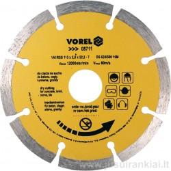 Diskas 115mm. deimantinis sausam pjovimui VOREL 08711