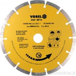 Diskas 180mm. deimantinis sausam pjovimui VOREL 08714