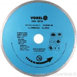 Diskas 230mm. deimantinis šlapiam pjovimui VOREL 08735