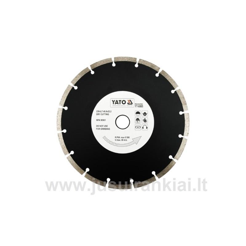Diskas 230mm. deimantinis sausam pjovimui YATO 6005
