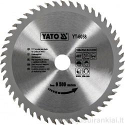 Diskas 160x20/2,8mm. 48dant. medžiui YATO 6058